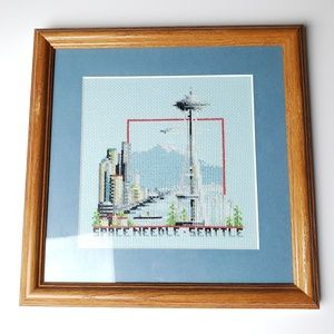 Seattle Space Needle Cross Stitch Frame